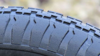 Tire - Tread pattern on a wheelbarrow tire