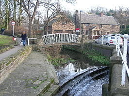 WhistonVillageStreamNearRotherham(AndrewLoughran)Jan2006.jpg