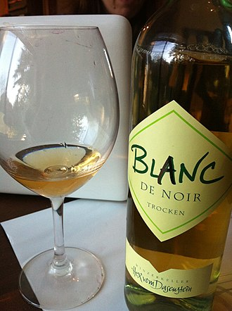 Baden (wine region) - A blanc de noir from the Baden made from Pinot noir grapes pressed quickly after harvest in order to make a white wine from the red grapes.