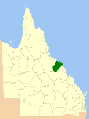 Whitsunday Region - Location within Queensland