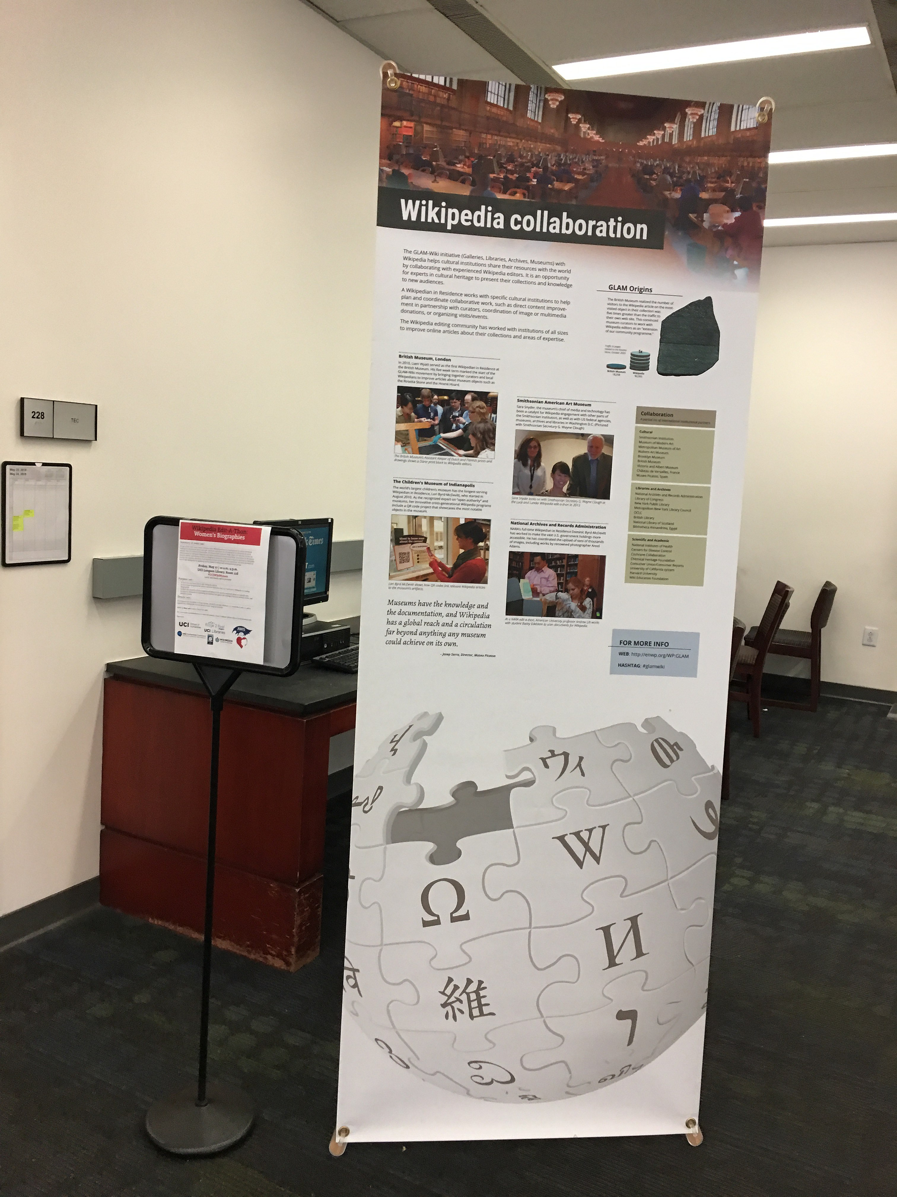 File Wikipedia Space Banners At Uciwikiwomen May 2019 02
