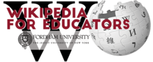 Wikipedia for Educators at Fordham logo.png