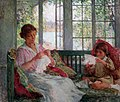 Willard Leroy Metcalf (1858-1925) - My Wife and Daughter (1917-1918).jpg