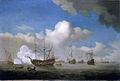 Willem van de Velde (the Younger) - The Captured HMS Royal Prince brought into Dutch waters after the Four Days battle, 4 June 1666.jpg