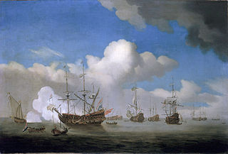 Dutch ships returning with their prizes to Goeree after the Four Days Battle, 4 June 1666