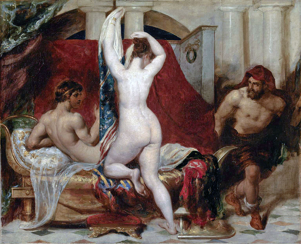 William Etty - Candaules, King of Lydia Shews his Wife by Stealth to Gyges (1820).jpg