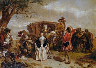 Dick Turpin - William Powell Frith's 1860 painting, titled Claude Duval, depicts a romanticised image of highway robbery.
