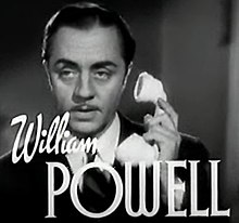 William Powell en 1937 en a cinta The Last of Mrs. Cheyney.