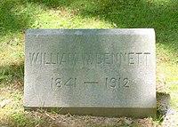 William Weaver Bennett tombstone.jpg