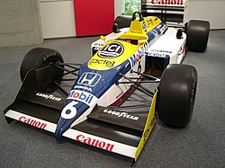 Nelson Piquet's championship-winning FW11B from 1987.