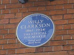 Photo of Willy Clarkson blue plaque