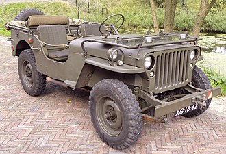 Front-engine, four-wheel-drive layout - Image: Willys Jeep 1943