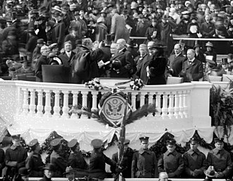 Second inauguration of Woodrow Wilson - Inauguration ceremonies at the Capitol.