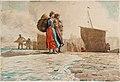 Winslow Homer - The Breakwater, Cullercoats (1882).jpg