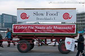 "Monsanto - Protests against Monsanto during the We are fed up!-demonstrations in Germany. ""Better Vin Santo than Monsanto."""