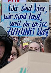 Auftaktkundgebung der FridaysForFuture Demonstration am 25. Januar 2018 in Berlin. 25.01.2019