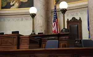 Wisconsin State Senate - Podium in the Senate