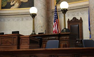 Wisconsin State Senate - Podium in the Senate