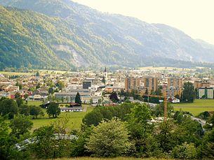 The city of Wörgl seen from the Grattenbergl