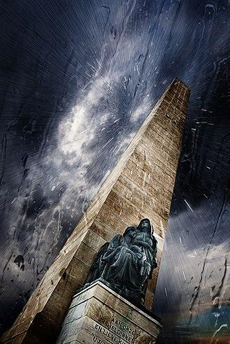 National Women's Monument - Image: Women's Memorial Under Rainy Sky