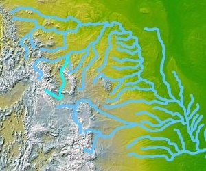Wind River (Wyoming) - Image: Wpdms nasa topo wind bighorn river