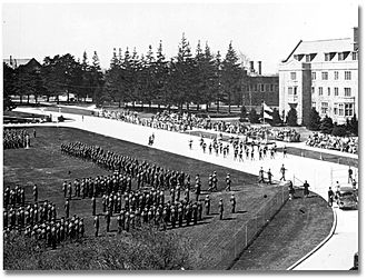 Ontario Agricultural College - Special review day at Ontario Agricultural College, Guelph, Ontario ca. 1939-46