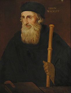 John Wycliffe English theologian and early dissident in the Roman Catholic Church