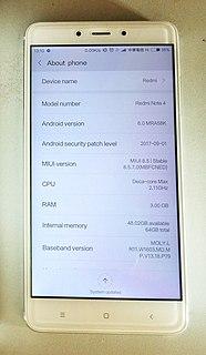 Xiaomi Redmi Note 4 2017 smartphone