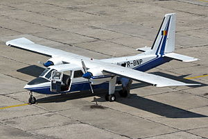 2014 Romania Britten-Norman Islander crash - YR-BNP, the aircraft involved in the crash, in 2008
