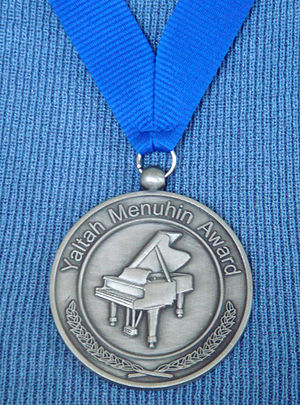 Yaltah Menuhin - Medal awarded by the Yaltah Menuhin Memorial Fund.