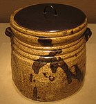 Yellow Seto ware water jar, 17th century, Metropolitan Museum of Art, 17.118.81a,b.JPG