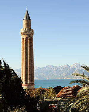 Yivliminare Mosque - The fluted minaret.