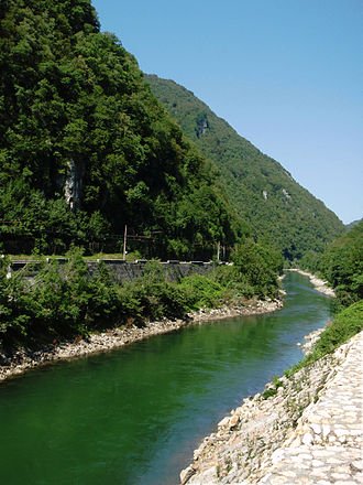 Central Sava Valley - The Central Sava Valley with the Sava River and plains