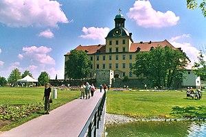 Blick vom Schlosspark zum Schloss Moritzburg