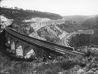 Lithgow Zig Zag zig zag railway line in New South Wales, Australia
