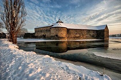 Zimní odpoledne u hradu Švihov
