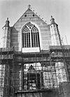zuidelijke transeptgevel in restauratie - rotterdam - 20191395 - rce
