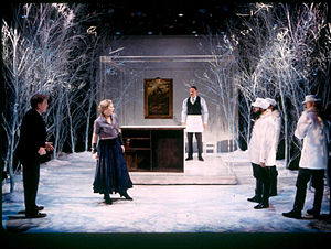 Manhattan Ensemble Theatre - (left to right:) William Atherton, Catherine Curtin, Dan Ziskie, Steven Rosen, Raynor Scheine and Sean McCourt in The Castle at Manhattan Ensemble Theatre, January 6, 2002.