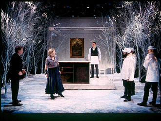 Manhattan Ensemble Theatre - (left to right:) William Atherton, Catherine Curtin, Dan Ziskie, Steven Rosen, Raynor Scheine and Sean McCourt in The Castle at Manhattan Ensemble Theatre, January 6, 2002.