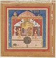 """Rustam Carrying the King of Mazandaran to Kai Kavus"", Folio from a Shahnama (Book of Kings) MET DP215843.jpg"