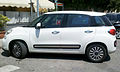 """ 13 - ITALY - Fiat 500L White minivan in Alghero side view.jpg"