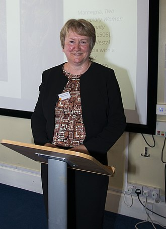 Helen King (classicist) - King giving a keynote presentation at Cardiff University in 2016