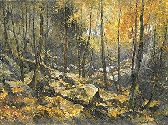 Blockfield - Felsenmeer, painting by Egbert Schaap (1912). Rijksmuseum Amsterdam