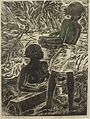 'Kapa Beaters', linoleum block print by Juliette May Fraser, 1952.JPG