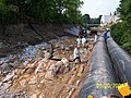 (Earlier photo) August 2004, Early Housatonic cleanup '1.5 Mile Reach', Pittsfield, MA (7984297476).jpg