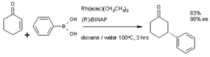 Nucleophilic conjugate addition - Image: (R) 3 phenyl cyclohanone