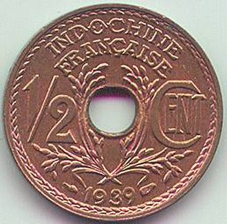 French Indochinese piastre - Image: ½ cent French Indo China (1939) Art Hanoi 02
