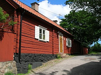 Södermalm - Wooden house at Åsögatan 213, built 1730.