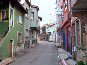 Street in the historical center of Tuzla