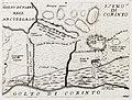 Χάρτης της περιοχής της Κορίνθου με κάτοψη του κάστρου του Ακροκό - Coronelli Vincenzo - 1686.jpg
